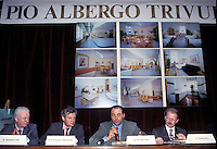 27 MAR 1995 ANTONIO DI PIETRO a un convegno al Pio Albergo Trivulzio<br /> MAR 27 1995 ANTONIO DI PIETRO at a meeting at Pio Albergo Trivulzio where the investigation Clean Hands started