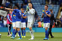 Leicester players applaud the fans after Leicester City vs Wolverhampton Wanderers, Premier League Football at the King Power Stadium on 11th August 2019