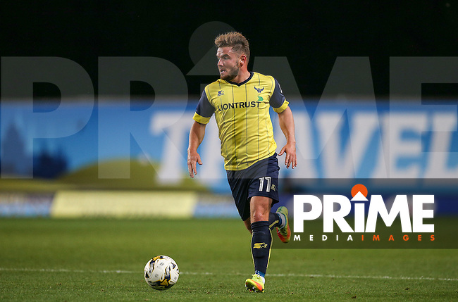 Alex MacDonald of Oxford United during the The Checkatrade Trophy match between Oxford United and Exeter City at the Kassam Stadium, Oxford, England on 30 August 2016. Photo by Andy Rowland / PRiME Media Images.