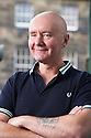 Irvine Welsh,  Scottish writer of the book Trainspotters at The Edinburgh International Book Festival 2011.  Credit Geraint Lewis