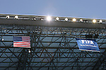 23 JUN 2010: Flags hanging from the stadium roof, pregame. The United States National Team played the Algeria National Team at Loftus Versfeld Stadium in Tshwane/Pretoria, South Africa in a 2010 FIFA World Cup Group C match.