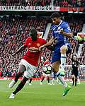 Eric Bailly of Manchester United in a action with Diego Costa of Chelseaduring the English Premier League match at Old Trafford Stadium, Manchester. Picture date: April 16th 2017. Pic credit should read: Simon Bellis/Sportimage