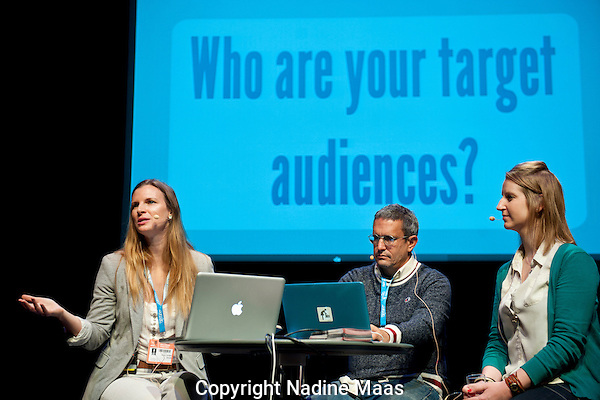 The Netherlands, Amsterdam, November 22, 2013. <br /> International Documentary Film Festival Amsterdam 2013. <br /> IDFA Academy Planery Session: Docs for Change.<br /> Compagnietheater<br /> Photo: Nadine Maas