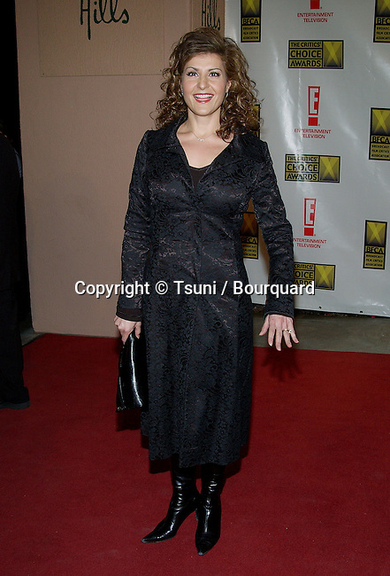 Nia Vardalos arriving at the 8th Annual Critics' Choice Awards at the Beverly Hills Hotel in Los Angeles. January 17, 2003