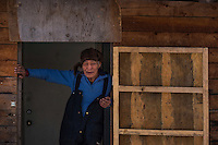 79-year-old Alexie Gusty at his home in Stony River, Alaska. Photo by James R. Evans