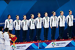 Japan team group (JPN), <br /> AUGUST 29, 2018 - Artistic Swimming : <br /> Women's Team Free Routine Medal Ceremony <br /> at Gelora Bung Karno Aquatic Center <br /> during the 2018 Jakarta Palembang Asian Games <br /> in Jakarta, Indonesia. <br /> (Photo by Naoki Morita/AFLO SPORT)