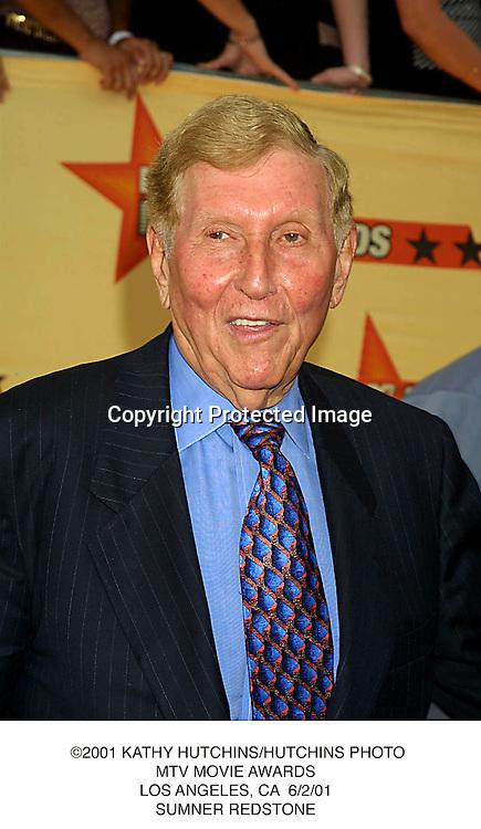 ©2001 KATHY HUTCHINS/HUTCHINS PHOTO.MTV MOVIE AWARDS.LOS ANGELES, CA  6/2/01.SUMNER REDSTONE
