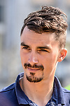 Julian Alaphilippe (FRA) Quick-Step Floors outside Le Palais des Princes-&Eacute;v&ecirc;ques at the team presentation before the 104th edition of La Doyenne, Liege-Bastogne-Liege 2018, Belgium. 21st April 2018.<br /> Picture: ASO/Karen Edwards | Cyclefile<br /> <br /> <br /> All photos usage must carry mandatory copyright credit (&copy; Cyclefile | ASO/Karen Edwards)