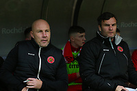 Walsall manager Jon Whitney during the Sky Bet League 1 match between Rochdale and Walsall at Spotland Stadium, Rochdale, England on 23 December 2017. Photo by Juel Miah / PRiME Media Images.