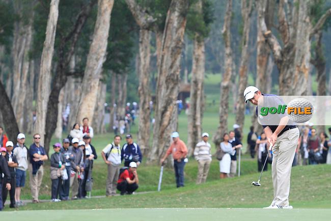 Peter Lawrie (IRL) during Round 4 of the UBS Hong Kong Open 2012, Hong Kong Golf Club, Fanling, Hong Kong. 18/11/12...(Photo Jenny Matthews/www.golffile.ie)