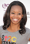 LOS ANGELES, CA - SEPTEMBER 07: Gabrielle Douglas arrives at Stand Up To Cancer at The Shrine Auditorium on September 7, 2012 in Los Angeles, California.