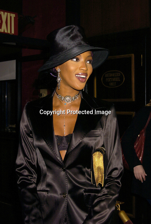 "Naomi Campbell ..at the World Premiere of ""Jay-Z Fade to Black"" on ..November 4, 2004 at the Ziegfeld Theatre. ..Photo by Robin Platzer, Twin Images"