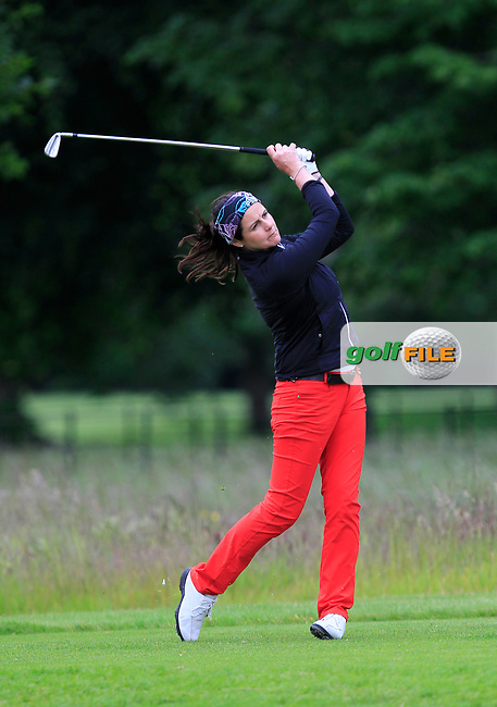Hazel Kavanagh (Car Golf Centre at Spawell) on the 6th tee during Round 1 of the Titleist &amp; Footjoy PGA Professional Championship at Luttrellstown Castle Golf &amp; Country Club on Tuesday 13th June 2017.<br /> Photo: Golffile / Thos Caffrey.<br /> <br /> All photo usage must carry mandatory copyright credit     (&copy; Golffile | Thos Caffrey)