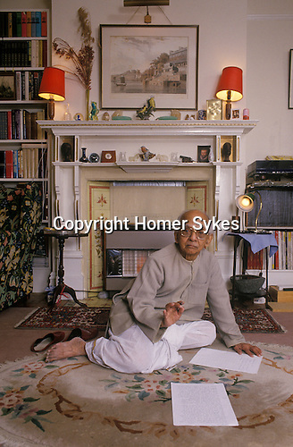 Nirad Chaudhuri at his home in Oxford