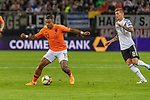 06.09.2019, Volksparkstadion, HAMBURG, GER, EMQ, Deutschland (GER) vs Niederlande (NED)<br /> <br /> DFB REGULATIONS PROHIBIT ANY USE OF PHOTOGRAPHS AS IMAGE SEQUENCES AND/OR QUASI-VIDEO.<br /> <br /> im Bild / picture shows<br /> <br /> Memphis DEPAY (Niederlande / NED #10)<br /> Toni Kroos (Deutschland / GER #08)<br /> <br /> während EM Qualifikations-Spiel Deutschland gegen Niederlande  in Hamburg am 07.09.2019, <br /> <br /> Foto © nordphoto / Kokenge