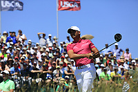 Jason Day (AUS) tees off the 1st tee to start his match during Thursday's Round 1 of the 117th U.S. Open Championship 2017 held at Erin Hills, Erin, Wisconsin, USA. 15th June 2017.<br /> Picture: Eoin Clarke | Golffile<br /> <br /> <br /> All photos usage must carry mandatory copyright credit (&copy; Golffile | Eoin Clarke)