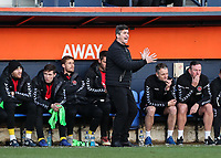 Fleetwood Town's  manager Joey Barton issues instructions<br /> <br /> Photographer Andrew Kearns/CameraSport<br /> <br /> The EFL Sky Bet League One - Luton Town v Fleetwood Town - Saturday 8th December 2018 - Kenilworth Road - Luton<br /> <br /> World Copyright &copy; 2018 CameraSport. All rights reserved. 43 Linden Ave. Countesthorpe. Leicester. England. LE8 5PG - Tel: +44 (0) 116 277 4147 - admin@camerasport.com - www.camerasport.com