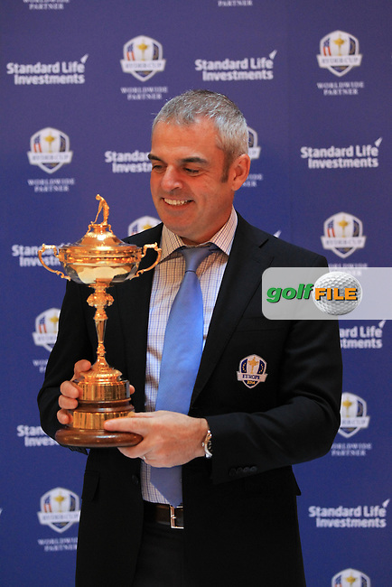 European Ryder Cup Captain Paul McGinley attends his first media day at Gleneagles Golf Club venue of the 2014 Ryder Cup, 27th February 2013..Photo Eoin Clarke/www.golffile.ie