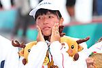 Kaya Isa (JPN),<br /> AUGUST 29, 2018 - Skateboarding : <br /> Medal Ceremony <br /> at Jakabaring Sport Center Skatepark <br /> during the 2018 Jakarta Palembang Asian Games <br /> in Palembang, Indonesia. <br /> (Photo by Yohei Osada/AFLO SPORT)
