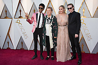 Darrell Britt-Gibson, Sandy Martin, Abbie Cornish and Caleb Landry Jones attend the 90th Annual Academy Awards at Hollywood &amp; Highland Center on March 4, 2018 in Hollywood, California.<br /> *Editorial Use Only*<br /> CAP/PLF/AMPAS<br /> Supplied by Capital Pictures