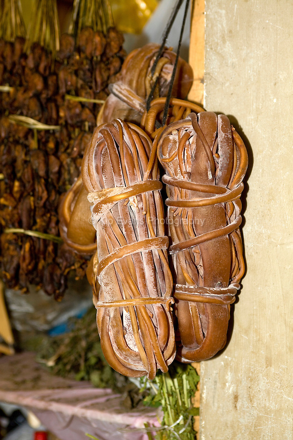 Dried kelp is sold at local markets in Chile.
