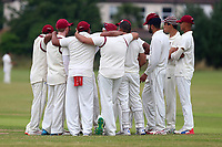 Parkonians celebrate the wicket of M Ismail during Hainault and Clayhall CC (batting) vs Oakfield Parkonians CC, Shepherd Neame Essex League Cricket at the Jack Carter Pavilion on 15th July 2017