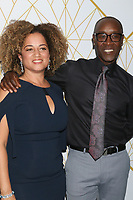 LOS ANGELES - SEP 21:  Bridgid Coulter, Don Cheadle at the Showtime Emmy Eve Party at the San Vicente Bungalows on September 21, 2019 in West Hollywood, CA