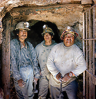 Portrait of a group of miners at the Potosi Mine, Potosi, Eastern Cordillera, Bolivia