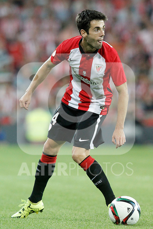 Athletic de Bilbao's Markel Susaeta during Supercup of Spain 1st match.August 14,2015. (ALTERPHOTOS/Acero)