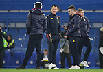 Aston Villa Assistant Head coach John Terry (2nd L) talks with players on the pitch ahead of the Premier League match at Stamford Bridge, London. Picture date: 4th December 2019. Picture credit should read: Paul Terry/Sportimage