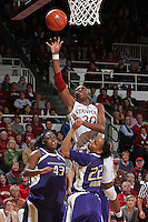 STANFORD, CA - January 21, 2012: Stanford Cardinal's Nnemkadi Ogwumike during Stanford's 65-47 victory over Washington at Maples Pavilion.
