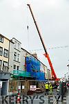 Work underway on on Bailys Corner bar in Castle street on Wednesday.