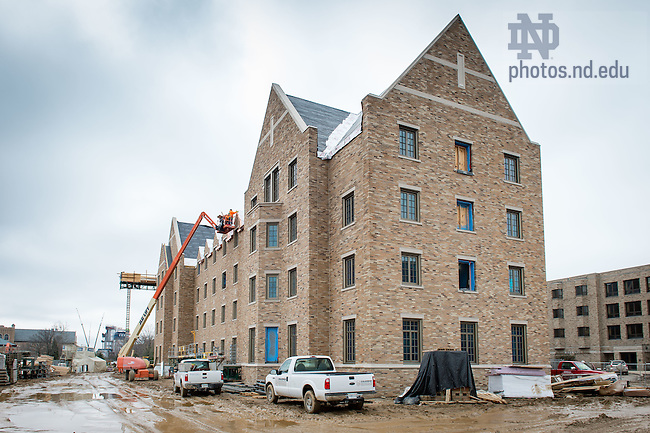 Mar. 14, 2016; Flaherty Hall construction (Photo by Matt Cashore/University of Notre Dame)