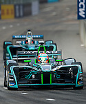 Nelson Piquet Jr of Brazil from Panasonic Jaguar Racing on track at the Formula E Non-Qualifying Practice 3 during the FIA Formula E Hong Kong E-Prix Round 2 at the Central Harbourfront Circuit on 03 December 2017 in Hong Kong, Hong Kong. Photo by Marcio Rodrigo Machado / Power Sport Images