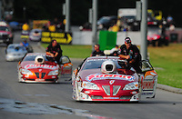 Jun. 19, 2011; Bristol, TN, USA: NHRA pro stock driver Greg Anderson during eliminations at the Thunder Valley Nationals at Bristol Dragway. Mandatory Credit: Mark J. Rebilas-