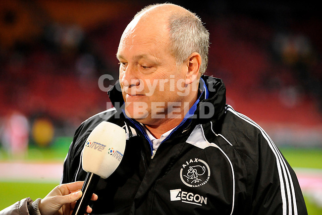 voetbal ajax - bv veendam knvb beker seizoen 2010-2011 11-11-2010   martin jol