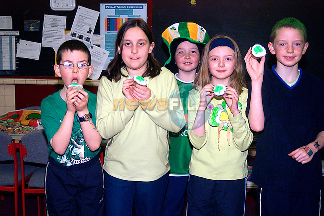 Sean O Neill, Jessica Farrell, Kieran Cruise, Aoifa Mullen, David Byrne,at Mell School All Set for St Patrick,s Day...Pic Tony Campbell/Newsfile