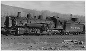 Fireman side view of K-37 #494 at Chama.<br /> D&amp;RGW  Chama, NM