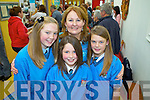 Principal of Drumtrasna NS,Abbeyfeale, Ann Rothery with 5th class students Frances Broderick, Erin Scannell and Ciara Donovan celebrating the official opening of the new school last Friday..