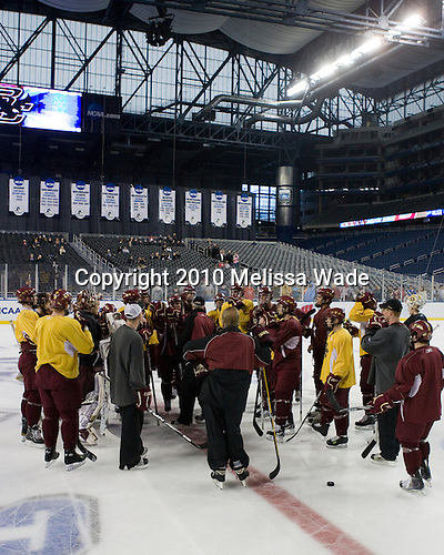 - The Boston College Eagles practiced on Wednesday, April 7, 2010, at Ford Field in Detroit, Michigan to prepare for their 2010 Frozen Four Semi-Final.
