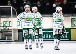 Stockholm 2014-03-05 Bandy SM-semifinal 3 Hammarby IF - V&auml;ster&aring;s SK :  <br /> V&auml;ster&aring;s Jonas Nilsson , V&auml;ster&aring;s Patrik Sj&ouml;str&ouml;m och V&auml;ster&aring;s Mikael Olsson ser nedst&auml;mda ut efter slutsignalen<br /> (Foto: Kenta J&ouml;nsson) Nyckelord:  VSK Bajen HIF depp besviken besvikelse sorg ledsen deppig nedst&auml;md uppgiven sad disappointment disappointed dejected