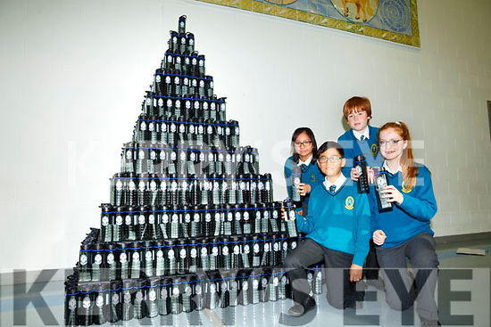 Mercy Mounthawk students  Environmentally-Aware Initiative To See Reusable Bottles Issued To Students. Pictured Javkhlan Kelly, Diarmuid O'Shea, Alexandra Perez and Grainne Leahy