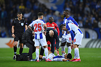 27th February 2020; Dragao Stadium, Porto, Portugal; UEFA Europa League  FC Porto versus Bayer Leverkusen; Luis Díaz of FC Porto is tended to for an injury