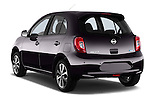 Rear three quarter view of a 2013 - 2014 Nissan MICRA 5 Door Hatchback 2WD