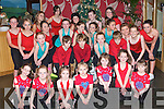SHOW BUSINESS: The cast of the Shiva Stage School who put in a wonderful performance for Enable Ireland Kerry Services Christmas Party at the Ballyroe Heights hotel on Sunday..   Copyright Kerry's Eye 2008