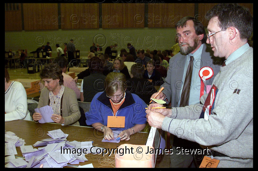 6th May 99                          Copyright Pic : James Stewart .Ref :  990219                         .File Name : stewart01-falkirk west                        .COUNTING GETS UNDER WAY FOR THE FALKIRK WEST SEAT.....Payments to :-.James Stewart Photo Agency, Stewart House, Stewart Road, Falkirk. FK2 7AS      Vat Reg No. 607 6932 25.Office : 01324 630007        Mobile : 0421 416997.E-mail : JSpics@aol.com.If you require further information then contact Jim Stewart on any of the numbers above.........