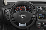 Car pictures of steering wheel view of a 2015 Dacia Dokker Stepway 5 Door Minimpv Steering Wheel