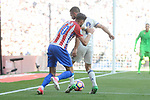Real Madrid's Daniel Carvajal and Atletico de Madrid's Yannick Carrasco during La Liga match between Real Madrid and Atletico de Madrid at Santiago Bernabeu Stadium in Madrid, April 08, 2017. Spain.<br /> (ALTERPHOTOS/BorjaB.Hojas)