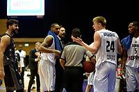 GRONINGEN - Basketbal, Donar - Cluj ,  Europe League, seizoen 2017-2018, 24-01-2018,  Donar speler Evan Bruinsma snapt niets van de commotie