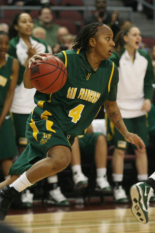LAS VEGAS, NV - MARCH 5:  Brittany Brumfield during Loyola Marymount's 61-54 victory over the USF Dons in the first round of the WCC Basketball Tournament on March 5, 2010 at Orleans Arena in Las Vegas Nevada.